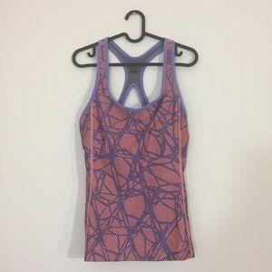 Nike Sport Built in Bra Tank in Coral/Lavender